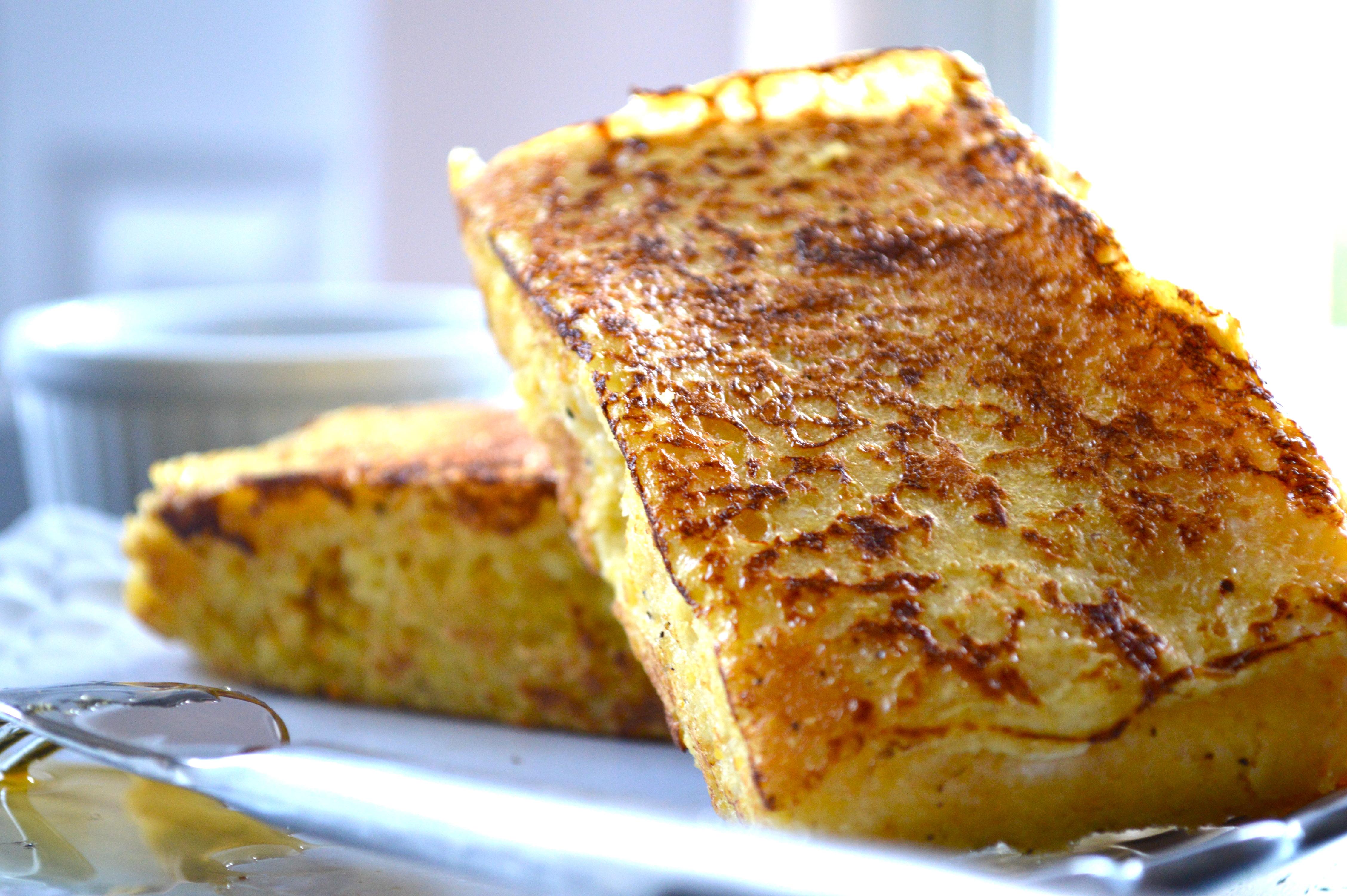 French Toast Corn Bread Gluten Free - Gluten Free Skinny
