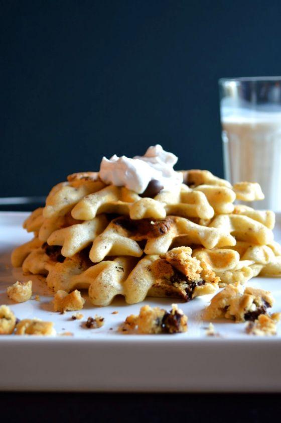 Gluten free Cookie Dough Waffles @ http://glutenfreeskinny.net