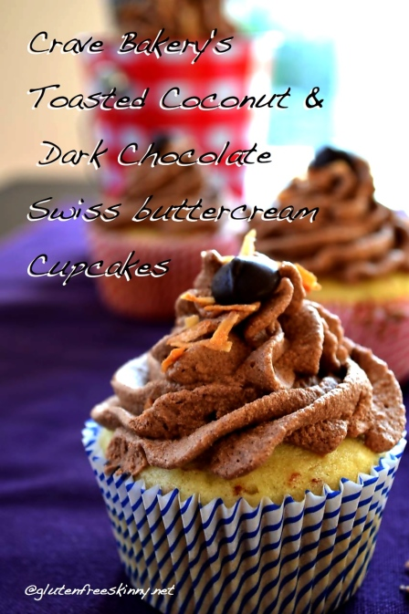 Toasted Coconut Cupcakes. Gluten free, lactose free, grain free, nut free. @glutenfreeskinny.net