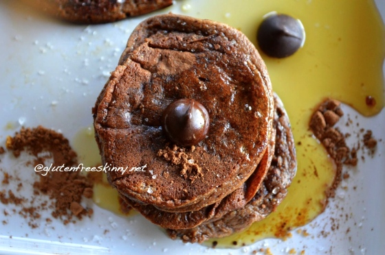 Chocolate Paleo Banana Pancakes