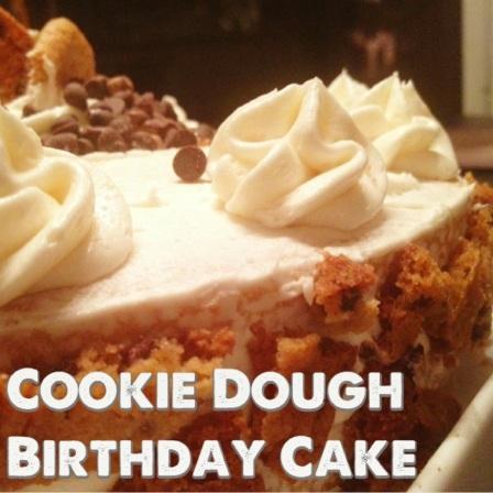 Gluten free cookie dough cake @glutenfreeskinny.net