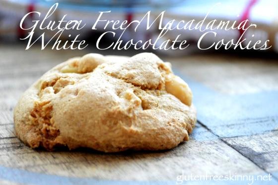 Gluten Free Macadamia White Chocolate Cookies. Delicious! glutenfreeskinny.net